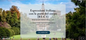 Can you address body parts using italian language? free exercise