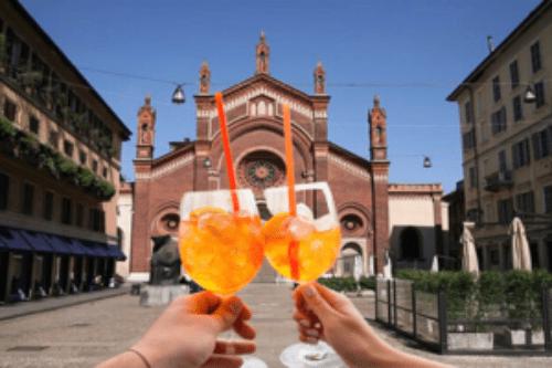 Live aperitif in Italian